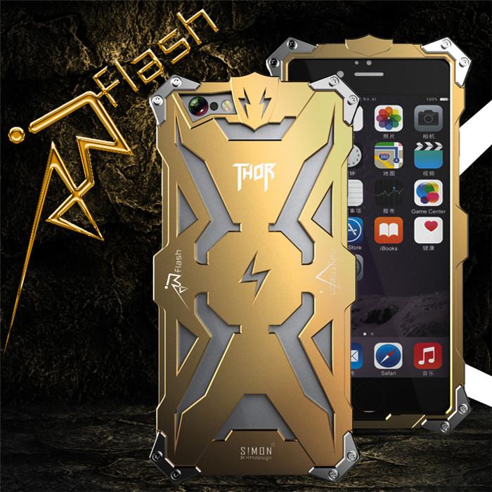 Simon Metal Aluminum Luxury Tough Armor THOR IRON MAN Phone Cases for iPhone 7 7 Plus SE 5 5S 6 6S Plus Housing Cover Case