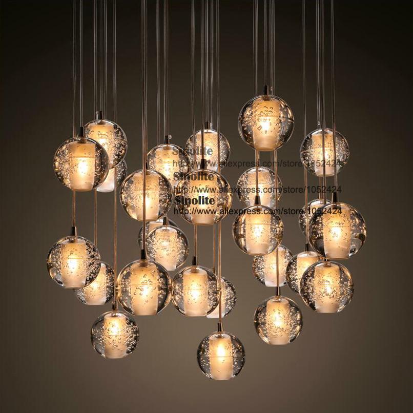 Гаджет  Modern Global Pendent Lights, 1 Light, Crystal Iron Plating; dinning room, restaurant ligting #    p86643-s None Свет и освещение
