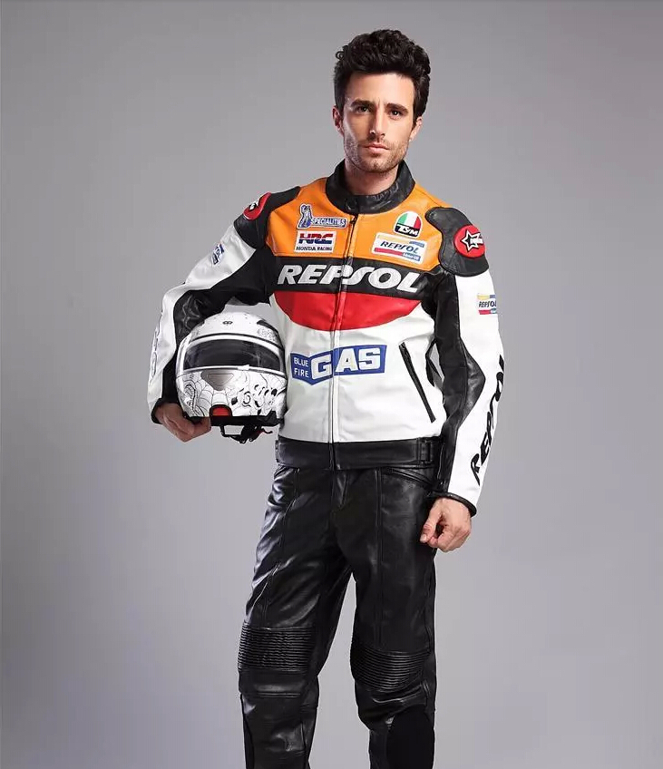 HOT!! 2015 new DUHAN PU leather Jackets + pants motorcycle racing suit, windproof motorcycle riding clothes suit M-XXXL(China (Mainland))