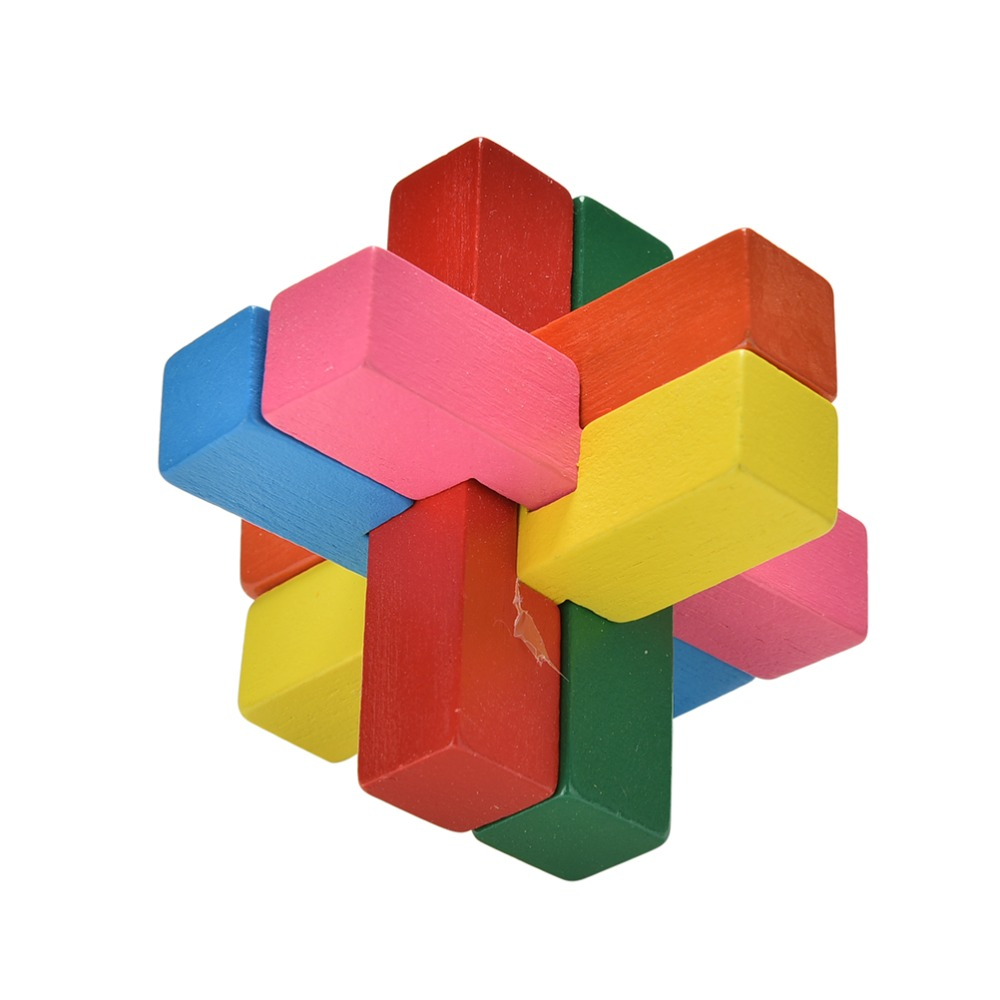 Classical Intellectual Wooden Cube/Educational Toy Set,Wooden Puzzle Set,Brain Teaser,Kong Ming/Luban Lock for Adult & Children(China (Mainland))