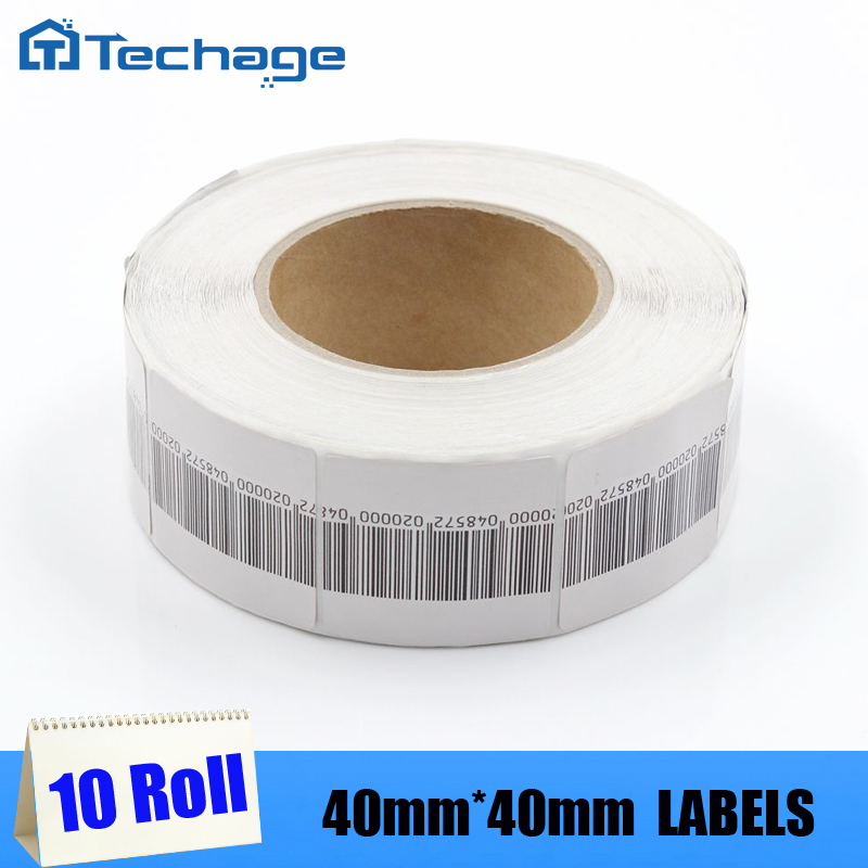 10 rolls Security CHECKPOINT 8.2 MHz RF SOFT TAGS Soft Label 40mm*40mm EAS Tag(China (Mainland))