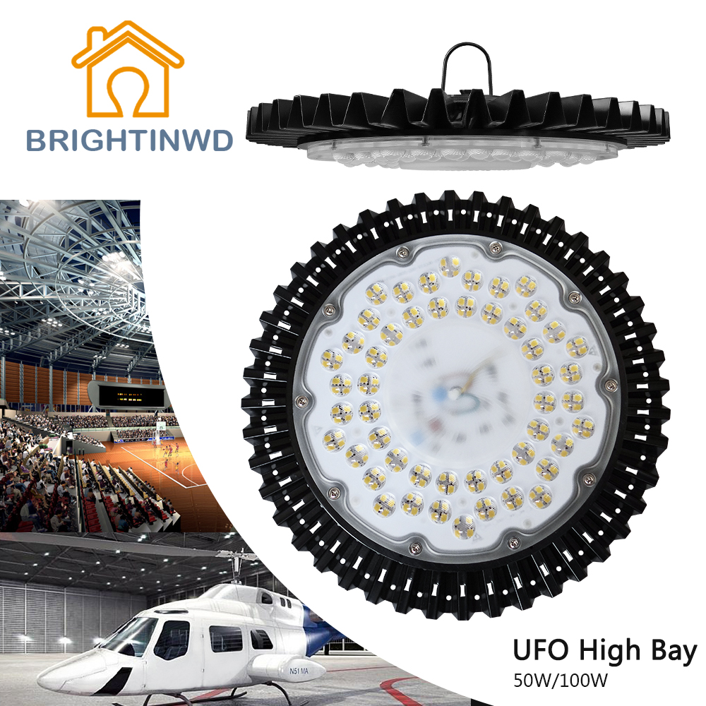 BRIGHTINWD 220V-240V 50W 100W High Power UFO LED High Bay Light IP40 SMD2835 LED Chip High Brightness For Warehouse Lighting(China (Mainland))