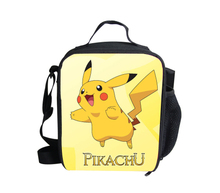 Fashion Cartoon Pocket Monster Lunchbox for Boys Cute Pikachu Container for Food Box Hot Pokemon Lunch Bag Picnic Thermal Bag(China (Mainland))