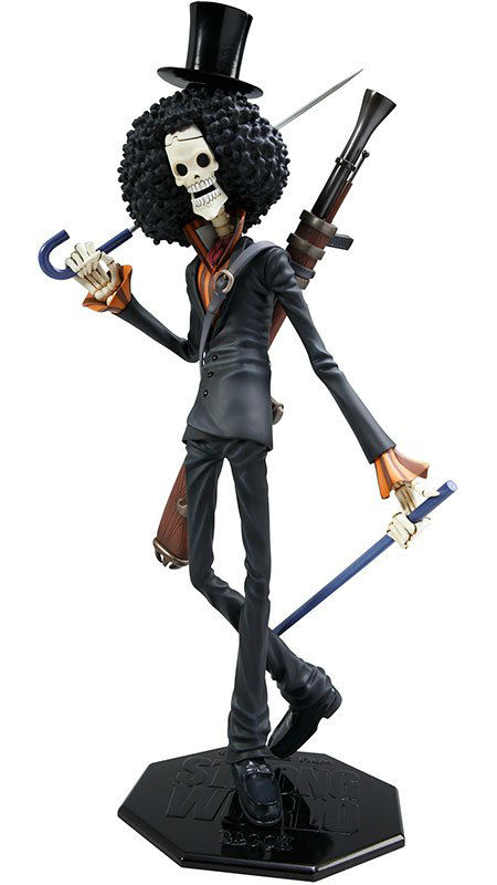 "One Piece Action Figure Brook POP Portait Of Pirates Skeleton Cannon Anime PVC 12"" Toys Free Shipping(China (Mainland))"
