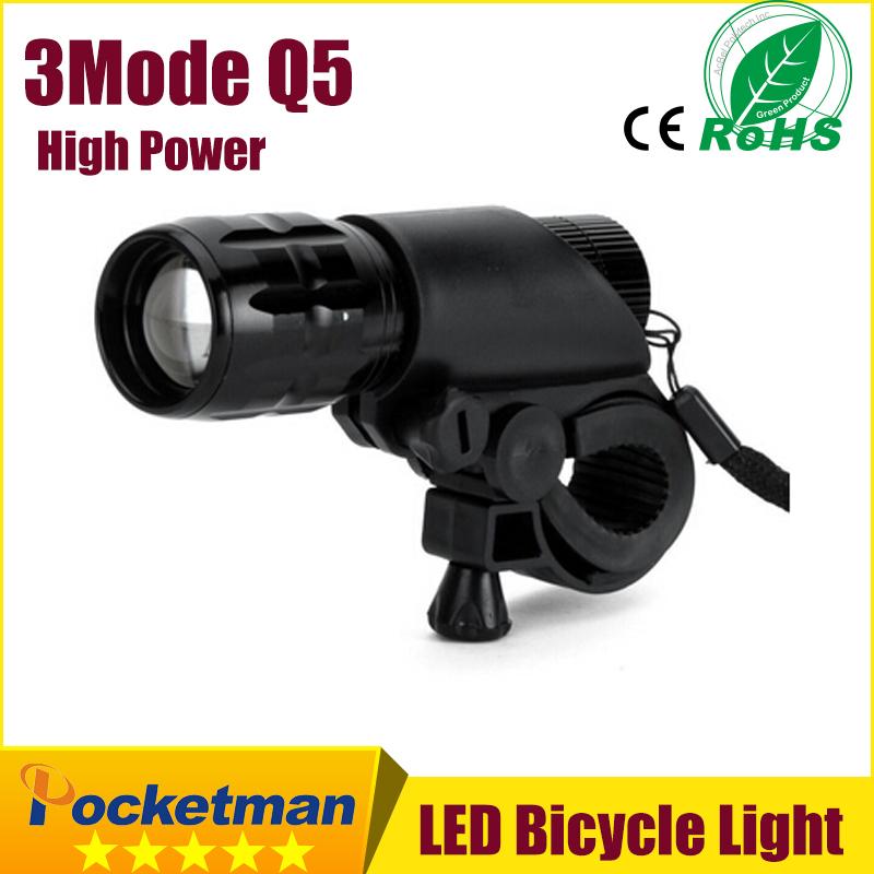 LED Bike Light Front Torch Waterproof + Torch Holder New Bicycle Light 7 Watt 2000 Lumens 3 Mode(China (Mainland))