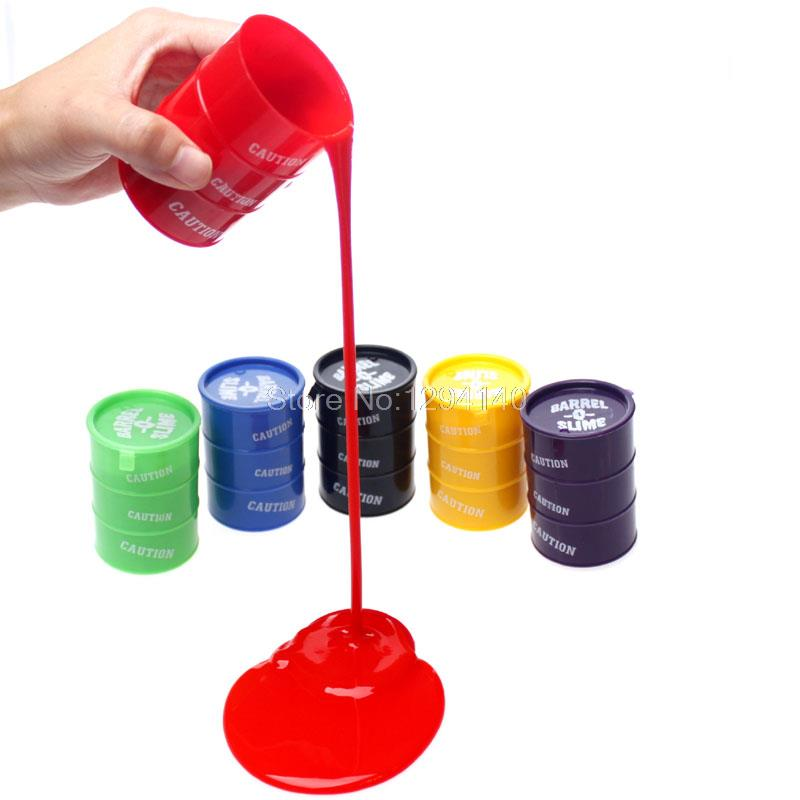 Free Shipping 24pcs/lot Trick paint Spilled Paint Pot Barrel Slime Barrel Slime(China (Mainland))