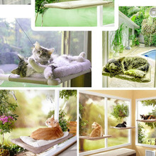 HOT 20KG Cat  Basking Window Hammock Perch Cushion Bed Hanging Shelf Seat Pet Bed for Multiple Cats of Household  Free Shipping(China (Mainland))