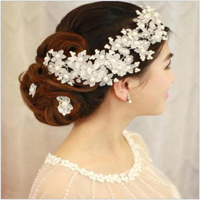 Bh31 высококачественный ручной головной убор с жемчугом свадебные аксессуары невесты ...