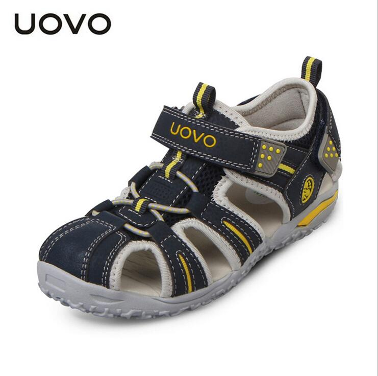 Kids Beach Shoes Hot UOVO Summer Boys Sandals Zapatos Flat Space Leather Child Slippers EU Size24-38 Flip Flops Kids Beach Shoes(China (Mainland))