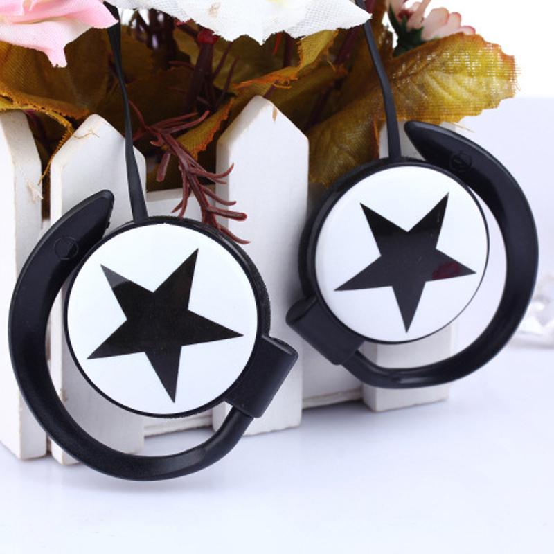 Fashion star design Ear-Hook earphone mini headset headphone for iphone Samsung mobile phone mp3 player(China (Mainland))