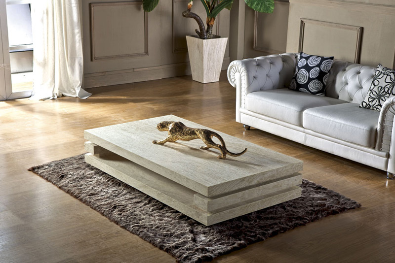 High End Living Room Furniture Iran Travertine Stone Coffee Table Modern Center Table In Coffee