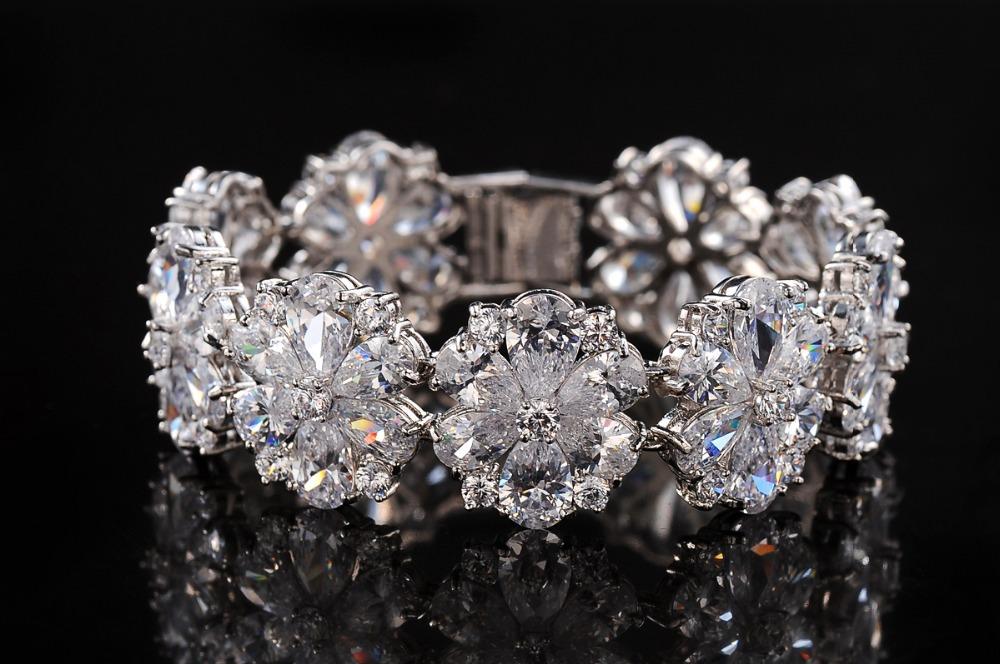 Inlay 3mm Round Stone AAA+ Swiss Cubic Zirconia Diamond Tennis Crystal Bracelet &amp; Bangles For Women<br><br>Aliexpress