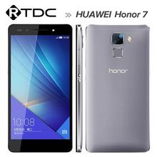 "Original Huawei Honor 7 Hisilicon Kirin 935 Octa Core Android 5.0 3GB RAM 16GB Rom 20MP 5.2"" FDD-LTE 4G Dual Sim mobile phone(China (Mainland))"