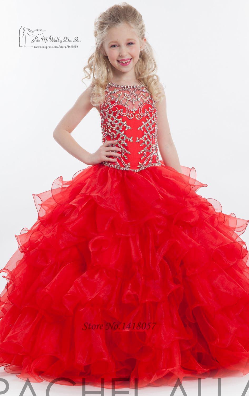 robe de mariee pour petite fille rouge