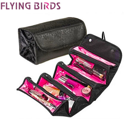 Flying birds! Multifunction women cosmetic bags Makeup Bag Lady Cosmetic cases Travel Bags Ladies Toiletries Bolsas LM2170ay(China (Mainland))