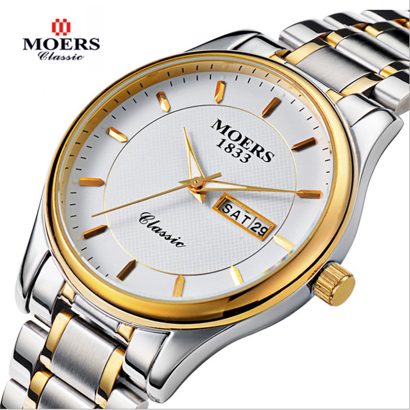 Watches men Moers luxury fashion brand Casual Sport reloj hombre Quartz Stainless men full gold wristwatch relogio masculino<br><br>Aliexpress