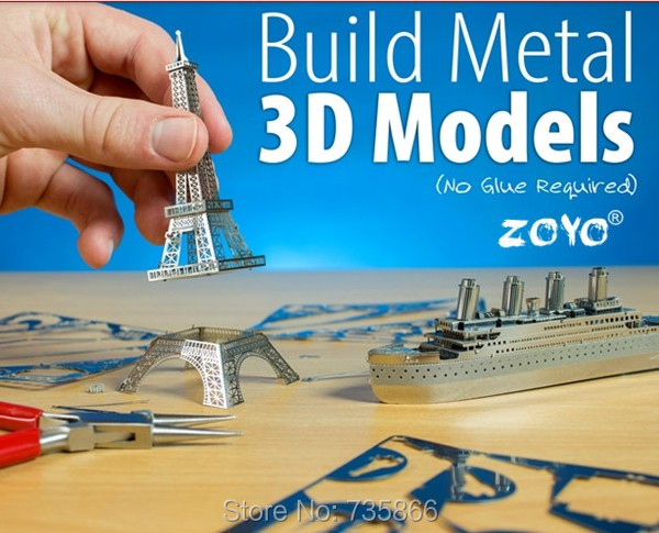 3D Model DIY Puzzle Freeship Eiffel Tower Promote Children's Intelligence Development(China (Mainland))