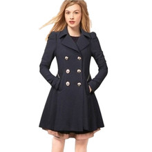 Overcoat women plus size 2XL Trench coat,women slim fashion outerwear,solid color Triple breasted coat,trech coat casual TT832