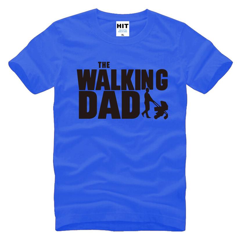 HTB1qxWGKFXXXXXAXpXXq6xXFXXXX - The Walking Dad Fathers Day Gift Men's Funny T-Shirt T Shirt Men 2016 New Short Sleeve Cotton Novelty Top Tee Camisetas Hombre