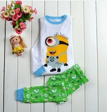 Free Shipping 2015 New Baby Wear Girls  pig Pajamas Children's Cartoon Pyjamas Suits Kids Printed Sleepwears Home Clothing(China (Mainland))