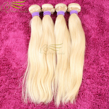 Hot Color 613 Blond European Hair Weave Sew In Hair Weft Straight Blond Hair Free Shipping