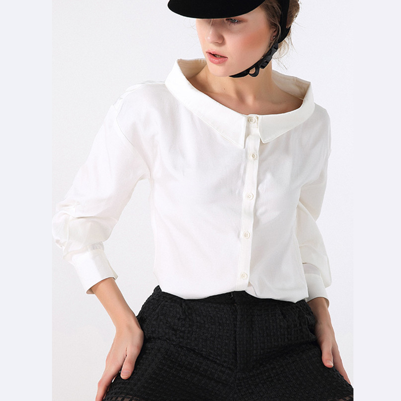 Women Blouse Tops Slim Sexy Women's Shirts High Quality 2016 White Shirt Elegant Female Clothing Work Ladies Blouses(China (Mainland))