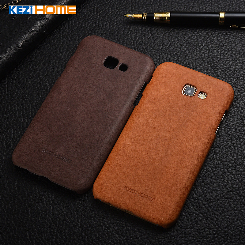 KEZiHOME Frosted Genuine Leather Hard Back Cover Samsung Galaxy A3 2017 A320 / A5 2017 A520 / A7 2017 A720 Protector case Co.,LTD)