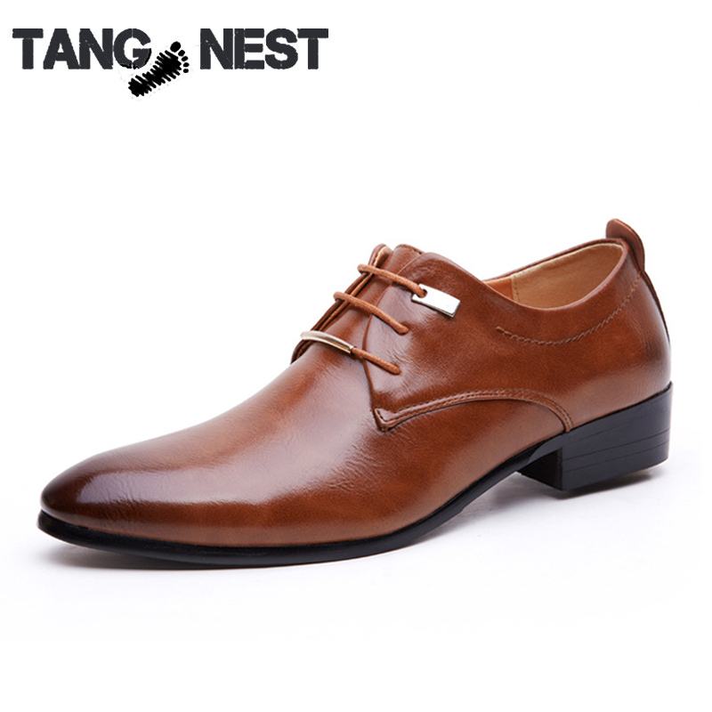 Plus Size Mens Business Shoes British Style Fashion Solid Men Oxfords Lace-up PU Leather Dress Flats 38-46,Free Shipping,XMP463<br><br>Aliexpress