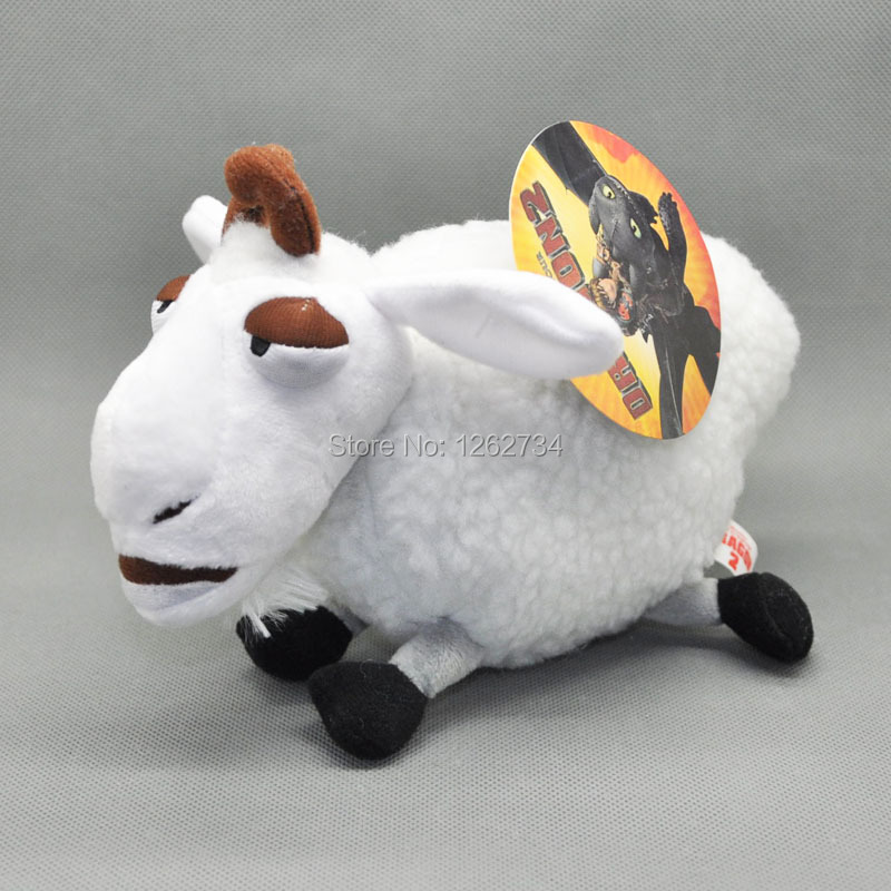"Free Shipping New How To Train Your Dragon 8"" White Sheep Plush Soft Toy(China (Mainland))"