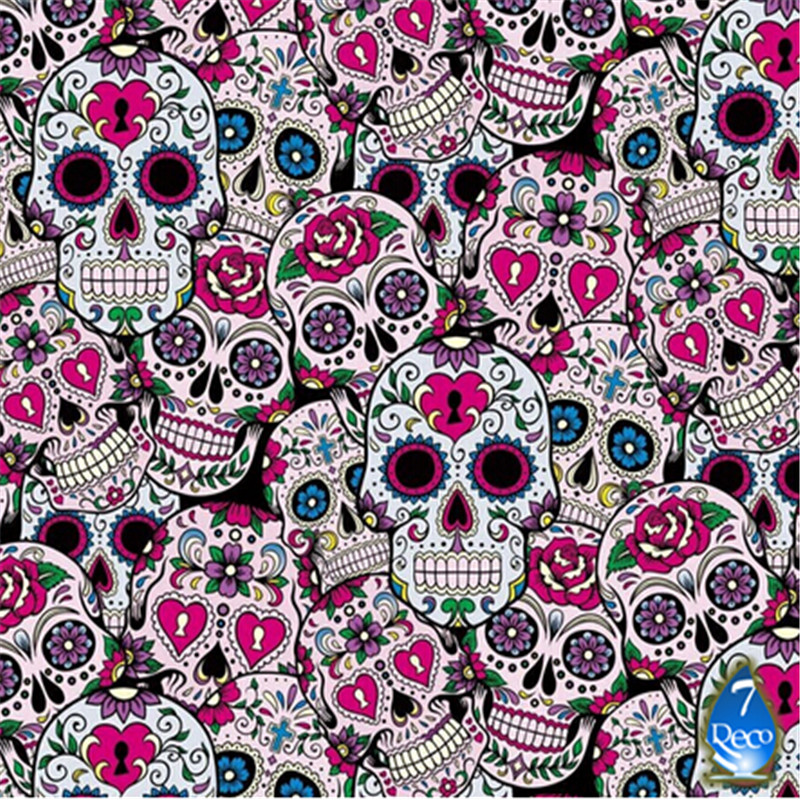 0.5M*2M FREE SHIPPING Skull 4-17-5 Water Transfer Printing Film, Hydrographic film, Decorative Material(China (Mainland))