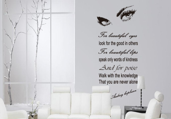 wall decals 8094/60*132''/Hepburn's eye PR sign wall stickers, exit of foreign trade manufacturers zooyoo(China (Mainland))