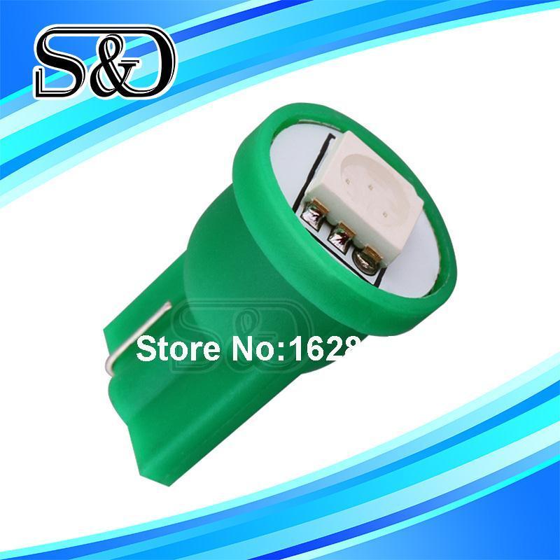 T10 1 SMD 5050 Green 194 W5W LED interior Lights Lamp 501 dash Bulb led car bulbs Car Light Source parking 12V Plate(China (Mainland))