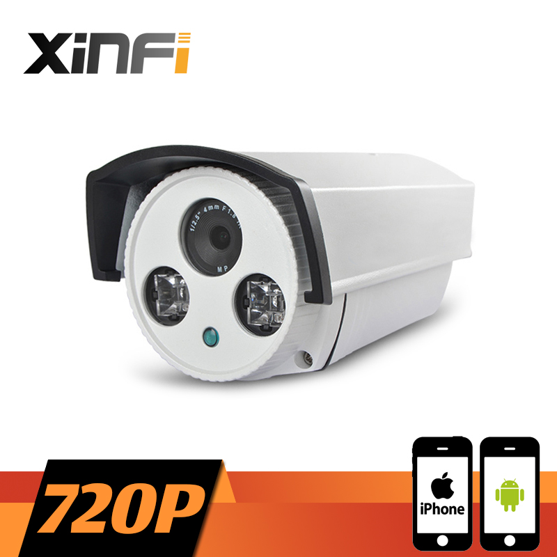 XINFI HD 720P Surveillance Camera 1.0 MP Outdoor Waterproof network CCTV IP camera P2P ONVIF 2.0 PC&Phone remote view(China (Mainland))