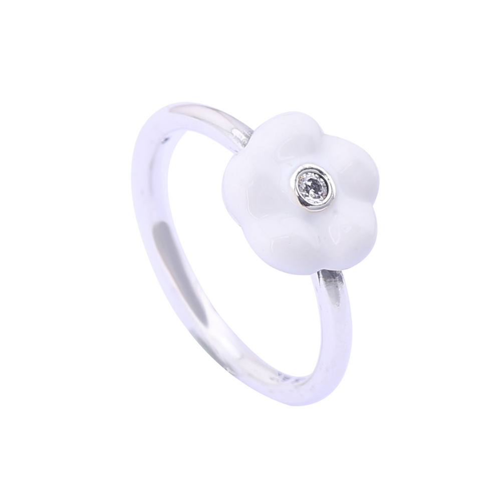 Summer New Style 925 Sterling Silver Luminous Floral Ring With Epoxy For Women Top Quality 925 Sterling Silver Lotus Flower Ring(China (Mainland))
