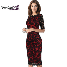 Buy Fantaist Women Vintage Scalloped Elegant Cocktail Party Formal Business Office Work Bodycon Pencil Midi Full Floral Lace Dress for $16.79 in AliExpress store