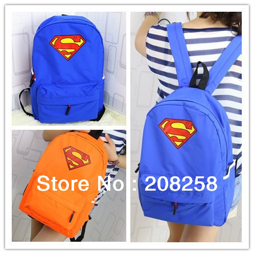 2015 New Fashion Cute Candy Color Canvas School Bag Superman Backpack Kids Women Stock - Jewelry Giant Co.,Ltd( $0 Min.-order 0$ store)