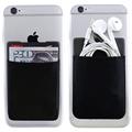 Card Holder Elastic Lycra Cell Phone Credit Card Holder Men Women Card Wallet Stick On 3M