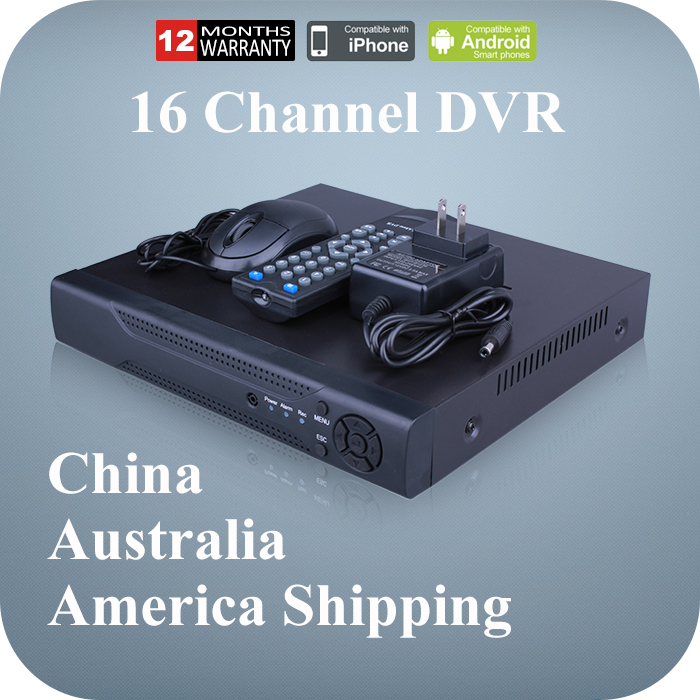 Digital Video Recorder Mini CCTV DVR 16 Channel 960H H.264 Network 16CH DVR for Home Security CCTV Camera(China (Mainland))