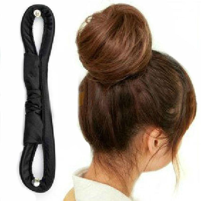 16CM New Fashion DIY Hair Styling Tools Bun Roller Black Barrette For Headwear Hair Accessories For Women Y6R1(China (Mainland))