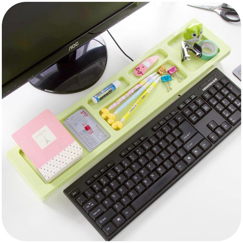 creative space saving desktop computer keyboard storage rack multi functional office shelving k3418 cheap office shelving