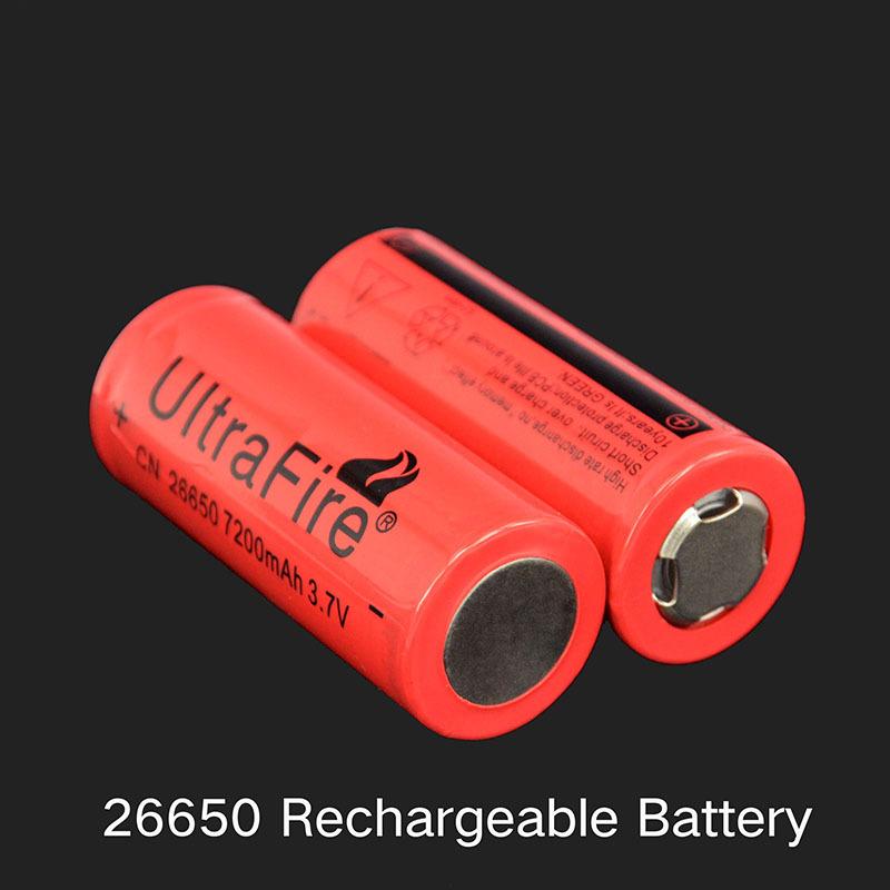 Ultrafire 26650 7200mAh Battery for LED Flashlight 3.7V Rechargeable 26650 Batteries 7200mAh wholesale Free Shipping 20PCS/LOT(China (Mainland))