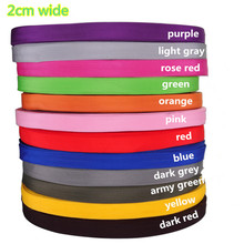 2cm wide 10.94 yards(10M)/lot pure color thickening PP webbing for bag luggage handbag,braided strap,backpack belt(China (Mainland))