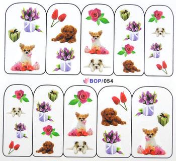 Finger applique nail art sticker watermark water transfer printing applique decal bop series