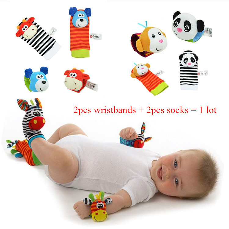 4pcs/lot High quality toy baby socks gift toddler waistband sock set baby educational socks<br><br>Aliexpress