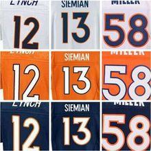 SexeMara best quality,Trevor new Siemian Paxton orange Lynch Von white Miller Emmanuel blue Sanders CJ elite anderson jersey(China (Mainland))