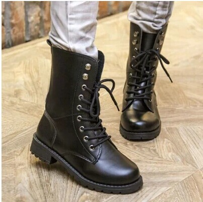 Retro Martin boots women fashion high motorcycle boots shoes new trend size 35-42 B022(China (Mainland))