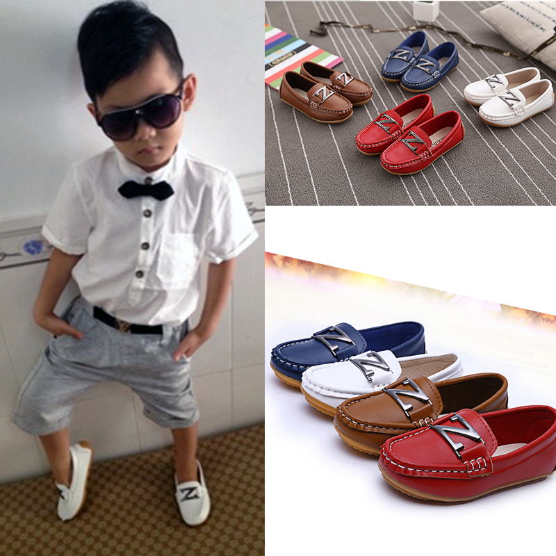 SALE!!! elegant children shoes children girls boys moccasins leather shoes brown white formal dress shoes wedding party sneaker(China (Mainland))