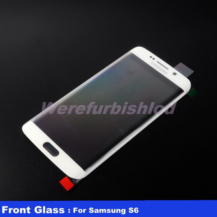 Original White Front Screen Outer Glass Lens Replacement For Samsung Galaxy S6 Edge G9250 SM-G925 Free Shipping