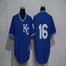 Mens 16 Bo Jackson Jersey Stitched Gray blue white Throwback Jerseys(China (Mainland))