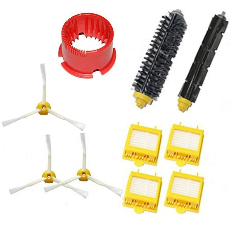 Ecombird 10pcs/LOT Brush Kit accessoires compatible for iRobot robot Roomba 700 Serie 700 760 765 770 775 780 790 aspirateur(China (Mainland))